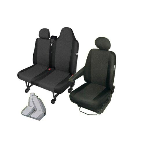 Sitzbez/üge Sitzschoner Set Kunstleder 9 Sitzer Fahrersitz Doppelbank Dreierbank Klappbar Dreierbank